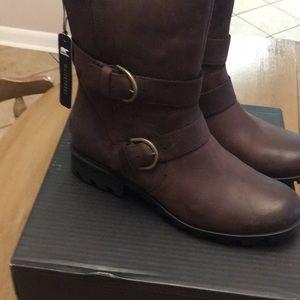 BNIB Sorel Phoenix Boots in Cattail Leather Sz 11